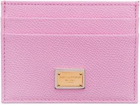 Dolce & Gabbana Pink Leather Card Holder