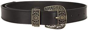 Alberta Ferretti Engraved Buckle Belt