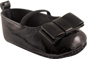 Luvable Friends Black Patent Ballet Flat - Infant