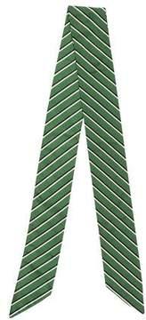 Max Mara Striped Silk Scarf