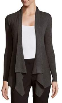 Context Ribbed Open Cardigan