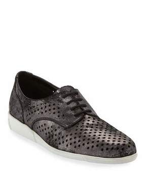 Sesto Meucci Dira Perforated Lace-Up Sneakers, Black