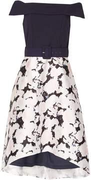 Izabel London *Izabel London Navy Floral 2-In-1 Dress