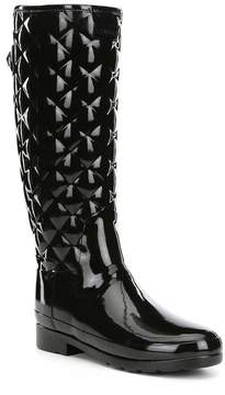 Hunter Tall Refined Quilted Gloss Rain Boots