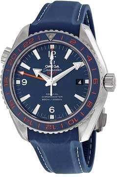 Omega Seamaster Planet Ocean GMT Blue Dial Men's Watch