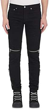 Givenchy Men's Distressed Slim Moto Jeans