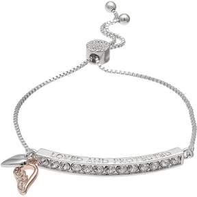 Brilliance+ Brilliance Brillilance Loved and Protected Adjustable Bracelet with Swarovski Crystals