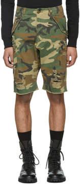 R 13 Multicolor Surplus Shredded Cargo Shorts
