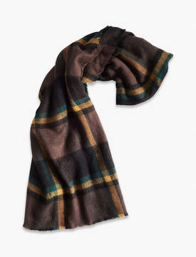 Lucky Brand BRUSHED PLAID SCARF