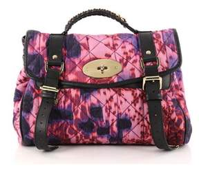 Mulberry Pre-owned: Alexa Satchel Quilted Printed Denim Medium.