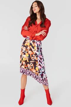 NA-KD Na Kd Multiprint Block Skirt