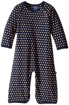Toobydoo Sweet Hearts Soft Blue Jumpsuit Girl's Jumpsuit & Rompers One Piece