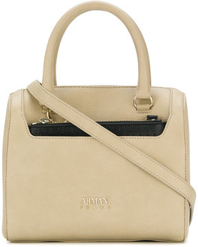 Armani Jeans chain detail tote bag