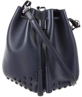 Tod's Gommini Leather Mini Bucket Bag