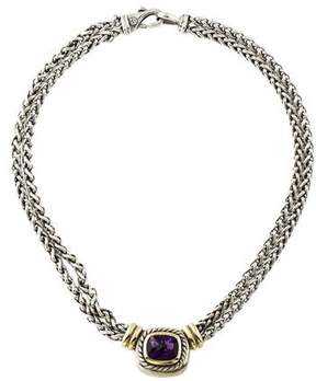 David Yurman Two-Tone Amethyst Double Strand Necklace