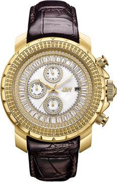 JBW Diamond Mens Brown Strap Watch-J6347l-A