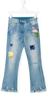 MonnaLisa Jakioo Teen embellished frayed jeans