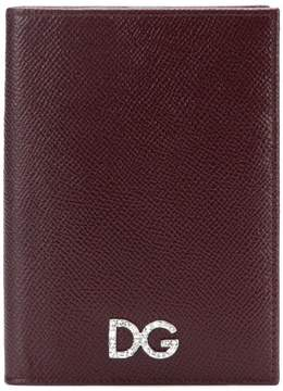 Dolce & Gabbana logo plaque foldover wallet