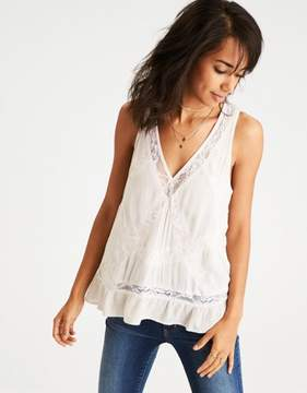 American Eagle Outfitters AE Lace-Paneled Tank