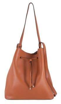 Lodis Halina RFID Large Leather Drawstring Bucket Bag