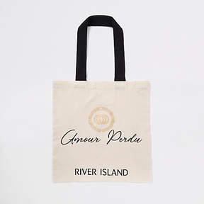 River Island Beige 'amour perdu' shopper tote bag