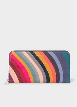 Paul Smith Women's Large 'Swirl' Print Leather Zip-Around Wallet