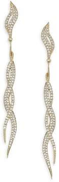 Adriana Orsini Women's Intertwining Snake Drop Earrings