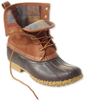 L.L. Bean Men's Tumbled-Leather L.L.Bean Boots, Flannel-Lined 8