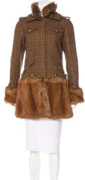 Chanel Fantasy Fur & Tweed Coat