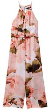 My Michelle mymichelle Floral Printed Jumpsuit (Big Girls)