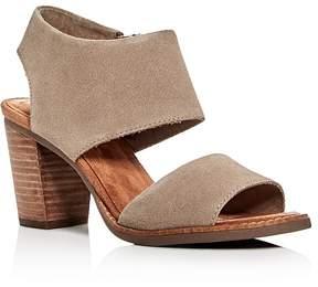 Toms Women's Majorca Suede Cutout Block Heel Sandals