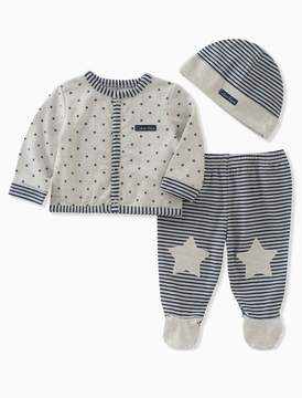 Calvin Klein baby boys 3-piece stars + stripes set