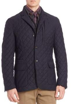 Luciano Barbera Quilted Wool-Blend Jacket