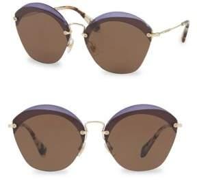 Miu Miu 63MM Cutout Sunglasses