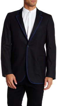 Robert Graham Front Double Button Woven Blazer Coat