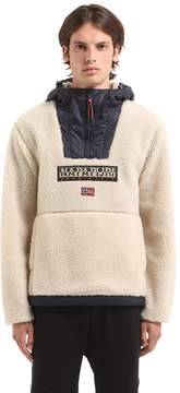 Napapijri Teide Sherpa Hooded Fleece Sweatshirt