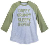 Disney Seven Dwarfs Raglan Shirt for Adults