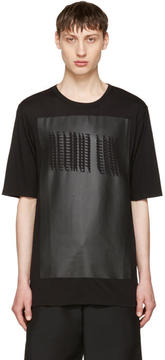 Helmut Lang Black Glitch Logo T-Shirt
