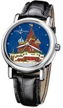 Ulysse Nardin Kremlin Enamel Cloisonne Dial Leather Men's Watch