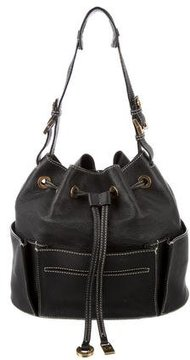 Loro Piana Grained Leather Bucket Bag