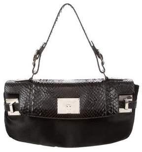Lambertson Truex Python & Ponyhair Top Handle Bag