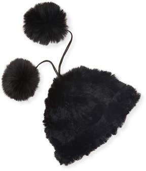Adrienne Landau Women's Rabbit Fur Hat