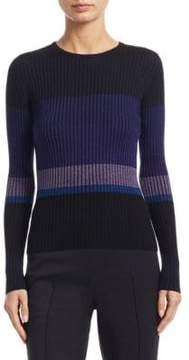 Akris Punto Long-Sleeve Wool Ribbed Sweater