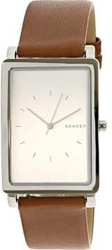 Skagen Men's Hagen SKW6289 Silver Leather Analog Quartz Fashion Watch
