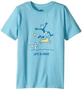 Life is Good Dock Jump Crusher Tee (Little Kids/Big Kids)