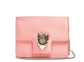 ALEXANDER MCQUEEN Heart mini satin shoulder bag