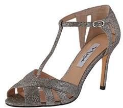 Nina Womens Ricarda Fabric Open Toe Ankle Strap Classic Pumps.