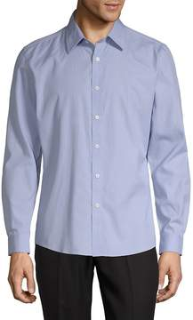 Hyden Yoo Men's Classic Slim-Fit Cotton Button-Down Shirt