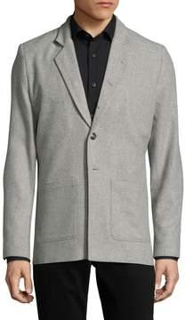 Lot 78 Lot78 Men's Wool Spread Collar Blazer