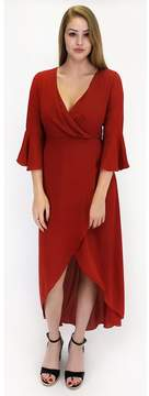 Everly A Trendy Terracotta Maxi Dress